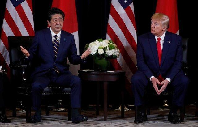 توافق ترامپ و آبه برای همکاری در مقابله با کرونا